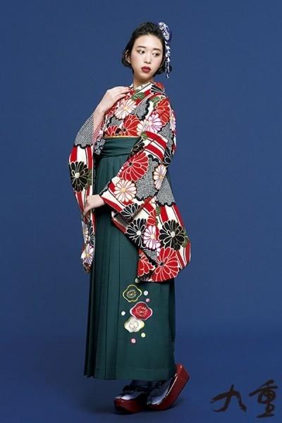 レトロ袴(No: 2575) / TAKAZEN 梅田店 - 卒業式と成人式の袴レンタル日本最大級の情報サイト (15069)