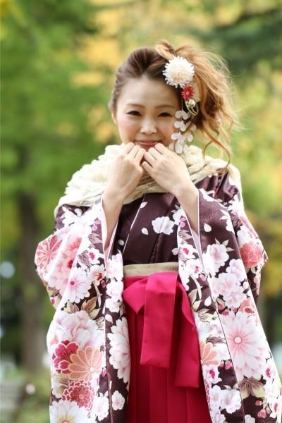 ラメブラウン☆(No: 1847) / BLANCHE 青森ドリームタウンALi店 - 卒業式と成人式の袴レンタル日本最大級の情報サイト (16201)