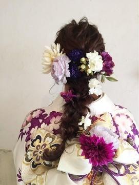 【2017年冬】〔ange maco〕成人式flowerヘア/ange(アンジュ)のヘアスタイル|BIGLOBEヘアスタイル (16362)