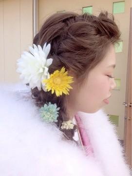 【2017年冬】編み込みヘアセット/CORDELIA 【コーデリア】のヘアスタイル|BIGLOBEヘアスタイル (16366)