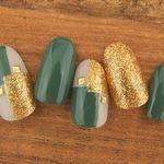 ≪振袖×緑ネイル≫成人式の振袖にグリーンの彩を♡