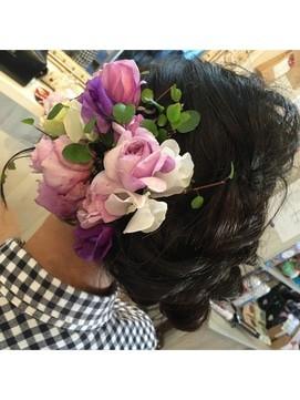 【2017年冬】成人式 卒業式flowerdecoration 4/Hair&Happy CoCoBirkin 【ヘアーアンドハッピー ココバーキン】のヘアスタイル|BIGLOBEヘアスタイル (16658)