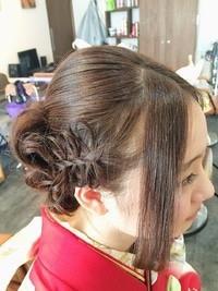 編み込みリボン☆成人式スタイル   五井・木更津・君津・館山の美容室 Ricca hairのヘアスタイル   Rasysa(らしさ) (16674)