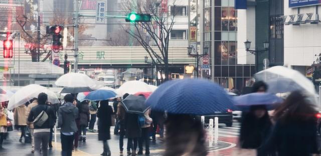 雨の渋谷駅|フリー写真素材・無料ダウンロード-ぱくたそ (19030)