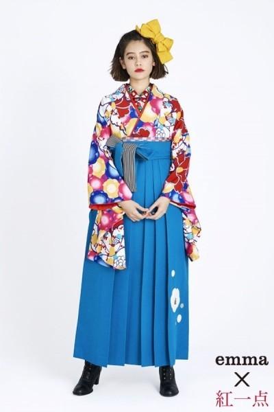 レトロ袴(No: 2563) / TAKAZEN 梅田店 - 卒業式と成人式の袴レンタル日本最大級の情報サイト (19124)