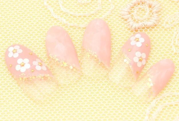春色ホロ花ネイル|美容院、美容室、ヘアサロンならZA/ZA|ザザ (19216)