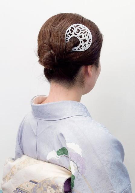 暮らしのアイテム 透かし彫りかんざし/パールホワイト 暮らしのアイテム 着物屋くるり (20535)