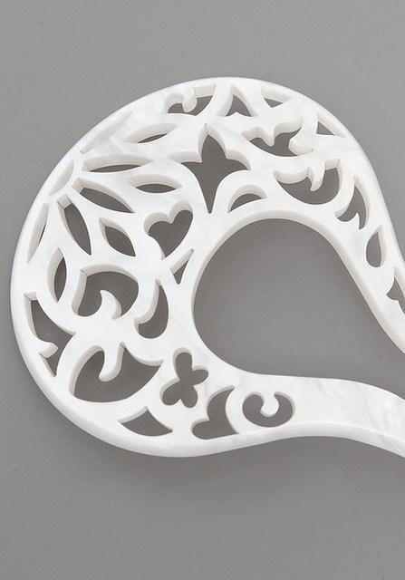 暮らしのアイテム 透かし彫りかんざし/パールホワイト 暮らしのアイテム 着物屋くるり (20536)