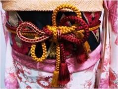 京都でキモノぷろじぇくと  帯締めの飾り結び (20589)