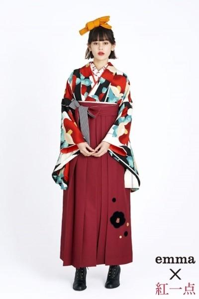 レトロ袴(No: 2565) / TAKAZEN 梅田店 - 卒業式と成人式の袴レンタル日本最大級の情報サイト (21076)