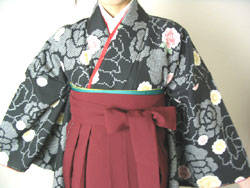 袴の着付けは意外と簡単です (23030)