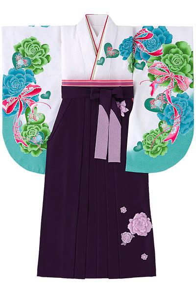 バラとリボンの袴