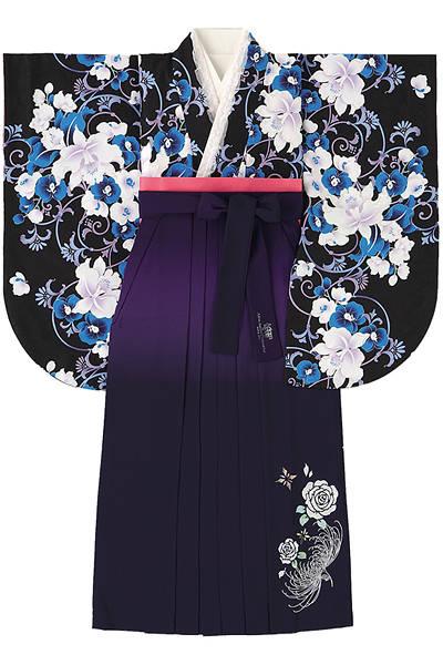 胡蝶蘭と百合の袴