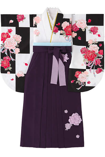 市松柄の袴