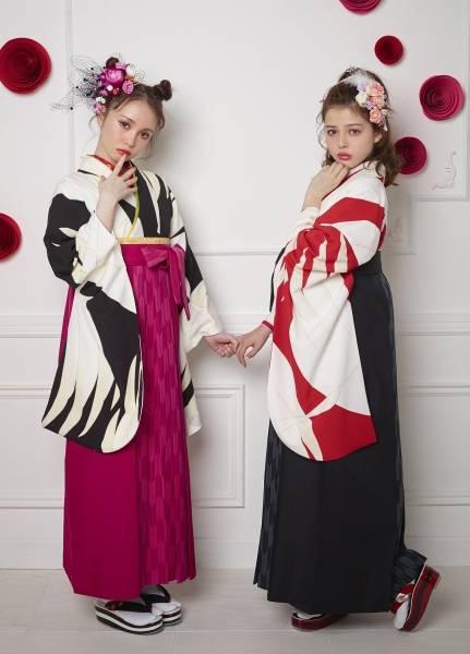 鶴(No: 2437) / セゾンふりそで館 - 卒業式と成人式の袴レンタル日本最大級の情報サイト (24413)