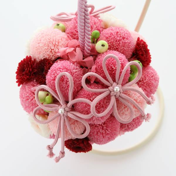 和装ブーケショップ ハマの花や 手鞠風ブーケ かおる 詳細(WB19) (25618)