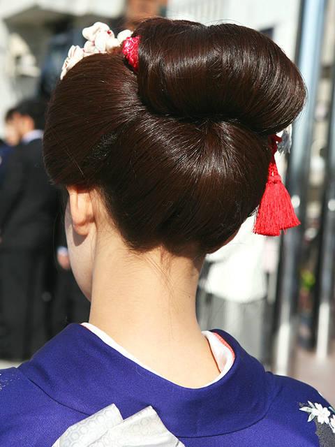 うなじ美人な日本髪
