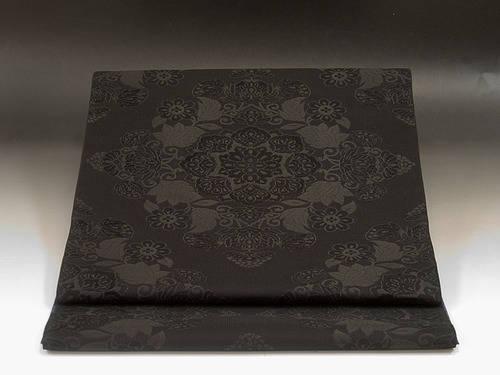 【楽天市場】西陣紫野正絹黒共名古屋帯 つづれ黒:色無地着物専門 みやこさかえ (26271)
