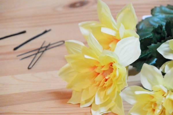 100均の造花を使って浴衣の髪飾りを手作りしよう、作り方はものすごく簡単です | しましま生活 (26999)