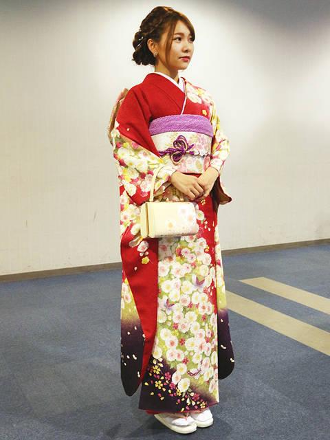 八重桜の振袖