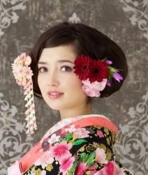 カラフルなお花+かんざし