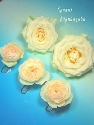 【楽天市場】ヘッドドレス(髪飾り)【生花】【ヘアード】【ブライダル】【新宿神楽坂店】:Sprout-flower (28734)