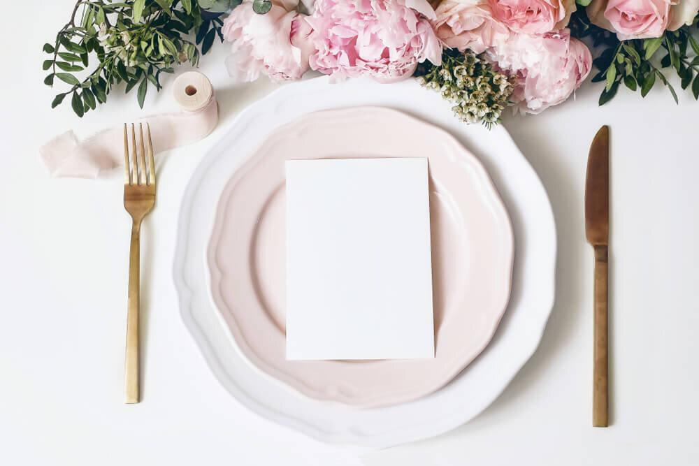 結婚式の食器
