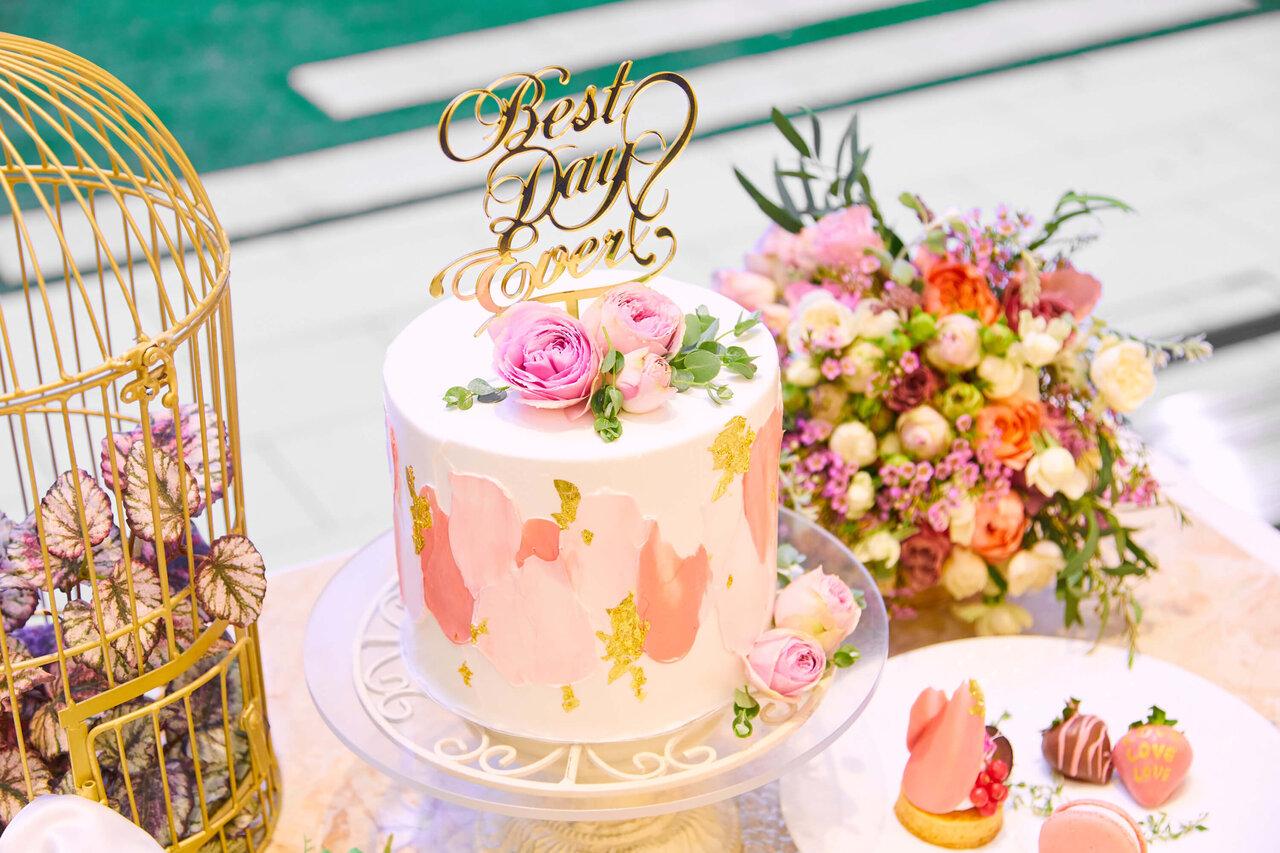 アルカンシエル luxe mariage 大阪のパティシエがつくったオリジナルウェディングケーキ
