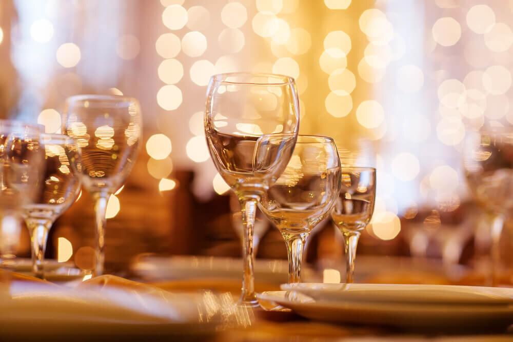 レストランのグラス