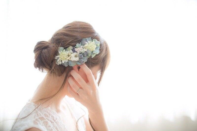 シニヨンスタイルの花嫁