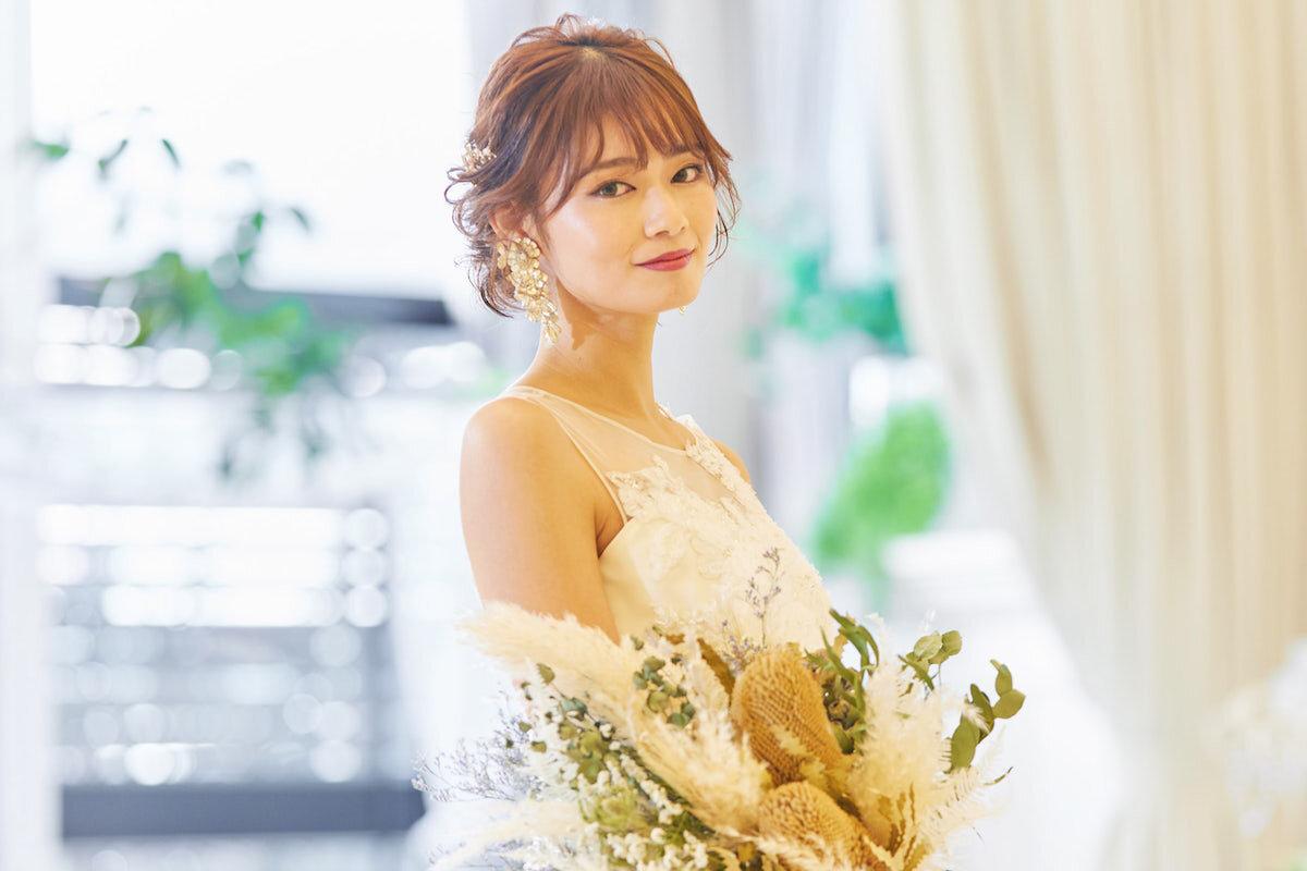 アルカンシエル シニヨンスタイルの花嫁
