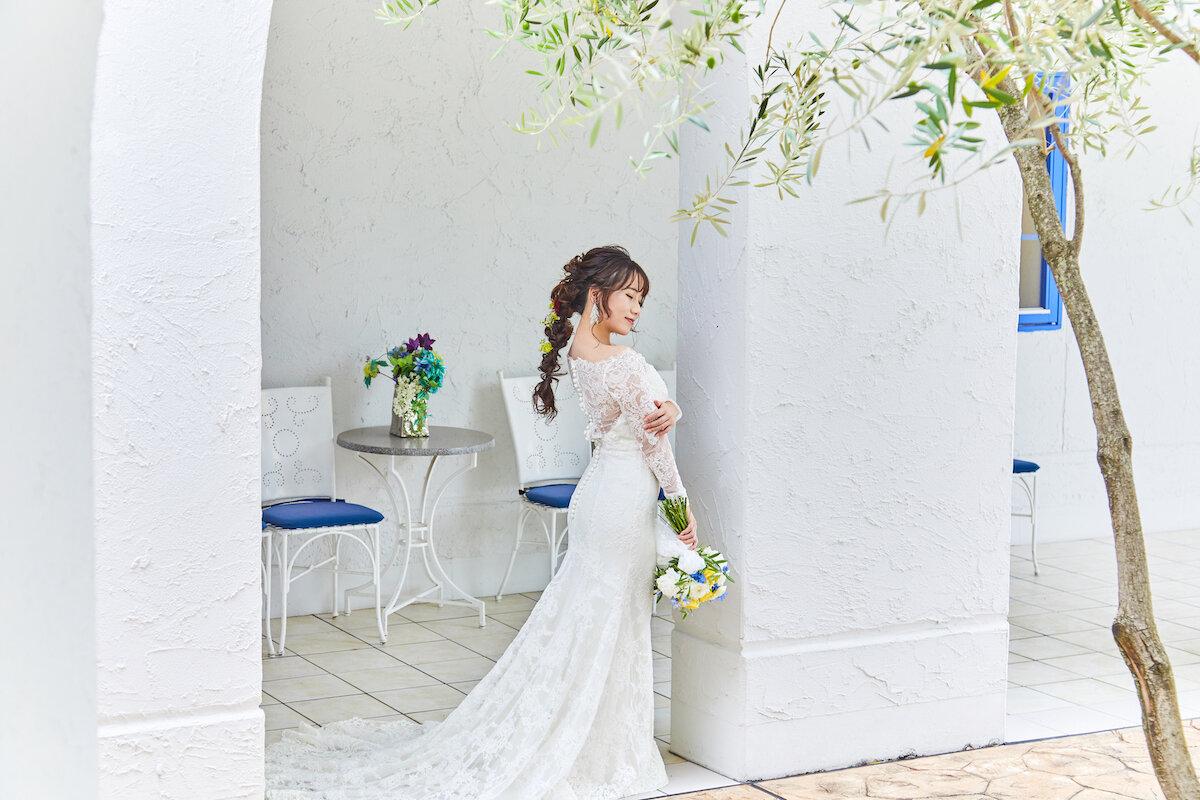 編みおろしスタイルの花嫁