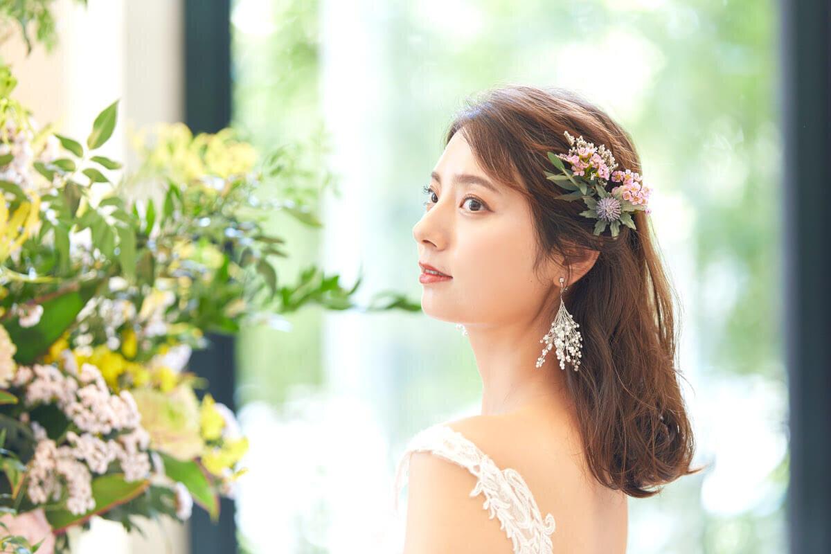 フルダウンスタイルの花嫁
