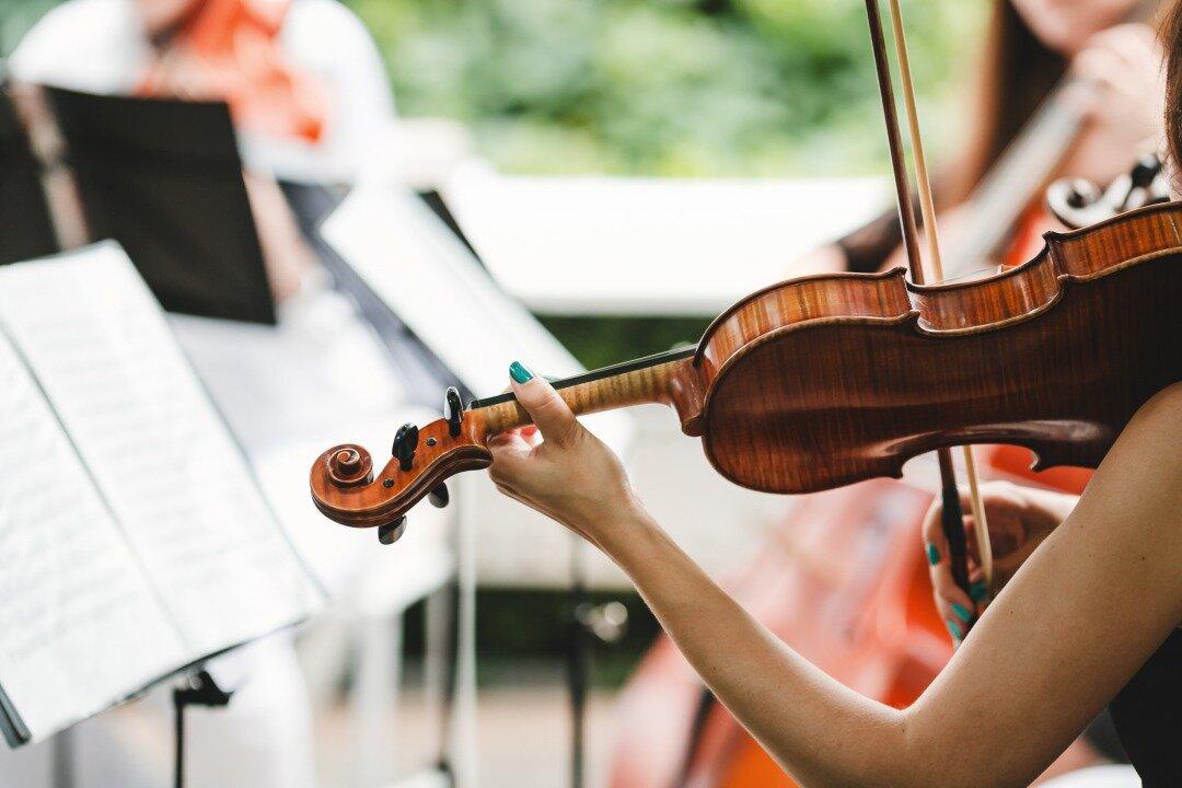 ヴァイオリンを弾いている様子