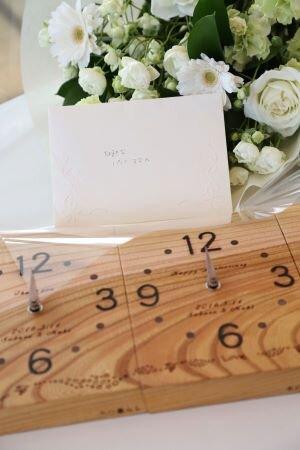 結婚式で両親に贈る三連時計