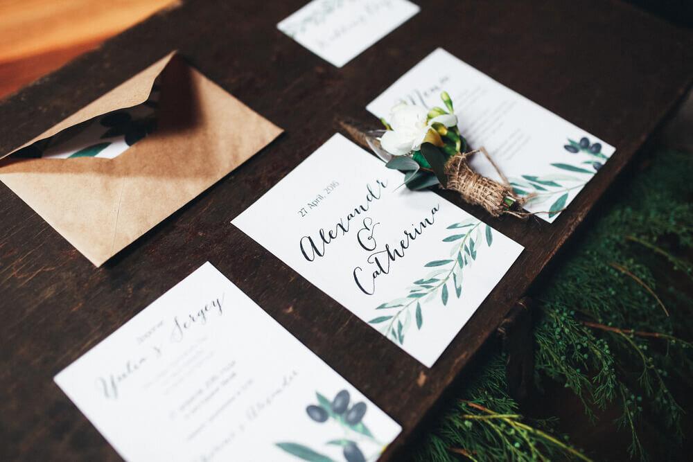結婚式のメッセージカード