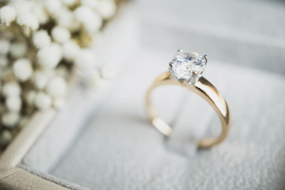 ボックスに入ったダイヤモンドの指輪