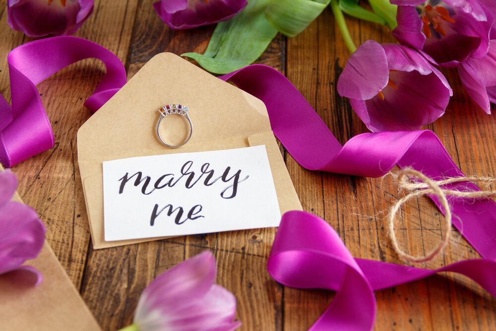 結婚の申し込みの手紙と指輪