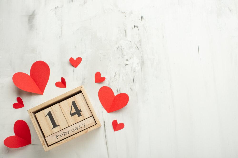 バレンタインのカレンダー