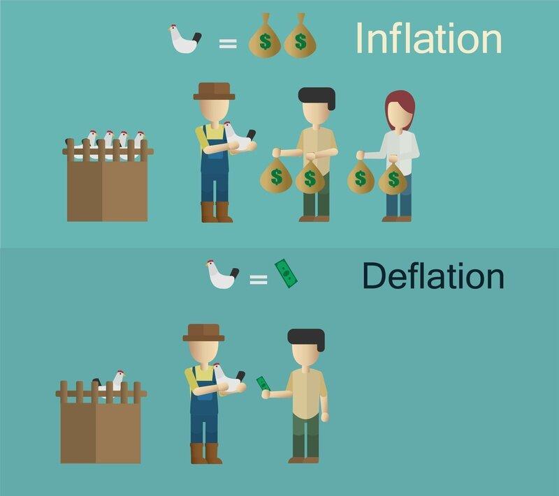 インフレとデフレの違いは?私達の生活にどのように影響するのか解説!