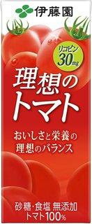 伊藤園 理想のトマト 紙パック 200ml×24本が野...