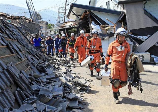 熊本地震の被災地