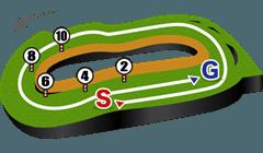 東京競馬場・芝2400mコース図