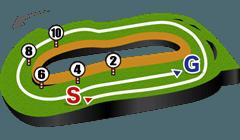 東京競馬場・芝2500mコース図