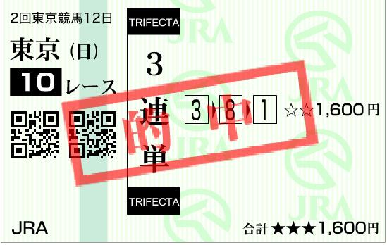 日本ダービー2016 的中馬券