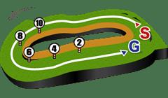 東京芝1800mコース図