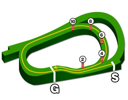 阪神芝2200mコース図