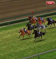 ゲーム内のレース映像