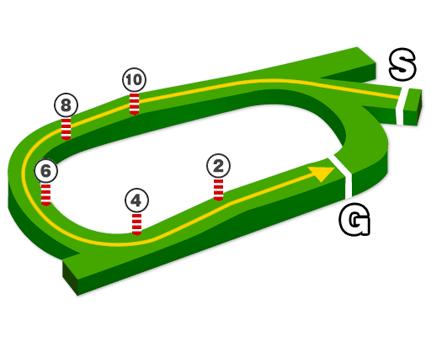 中京芝1600mコースデータ図
