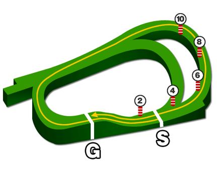 阪神競馬場・芝2400mコース図